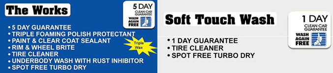 3 & 5 pack soft touch washes