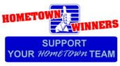 HomeTown Winners support your hometown team logo